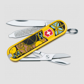 Нож -брелок, Classic, 58 мм, 7 функций, Swiss Clockwork, VICTORINOX, Швейцария, Швейцария