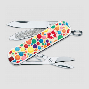 Нож -брелок, Classic, 58 мм, 7 функций, Color up your life, VICTORINOX, Швейцария, Швейцария