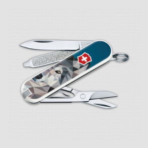 Нож -брелок, Classic, 58 мм, 7функций, The Wolf is Coming Home, VICTORINOX, Швейцария, Швейцария
