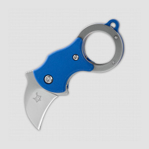 Нож складной - брелок «Mini-Ka Karambit Blue», длина клинка: 2,5 см, материал клинка: сталь 1. 4116 (X50CrMoV 15), материал рукояти: термопластик FRN, FOX, Италия, Италия
