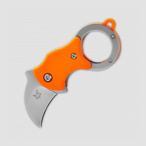 Нож складной - брелок «Mini-Ka Karambit Orange», длина клинка: 2,5 см, материал клинка: сталь 1. 4116 (X50CrMoV 15), материал рукояти: термопластик FRN, FOX, Италия, Италия